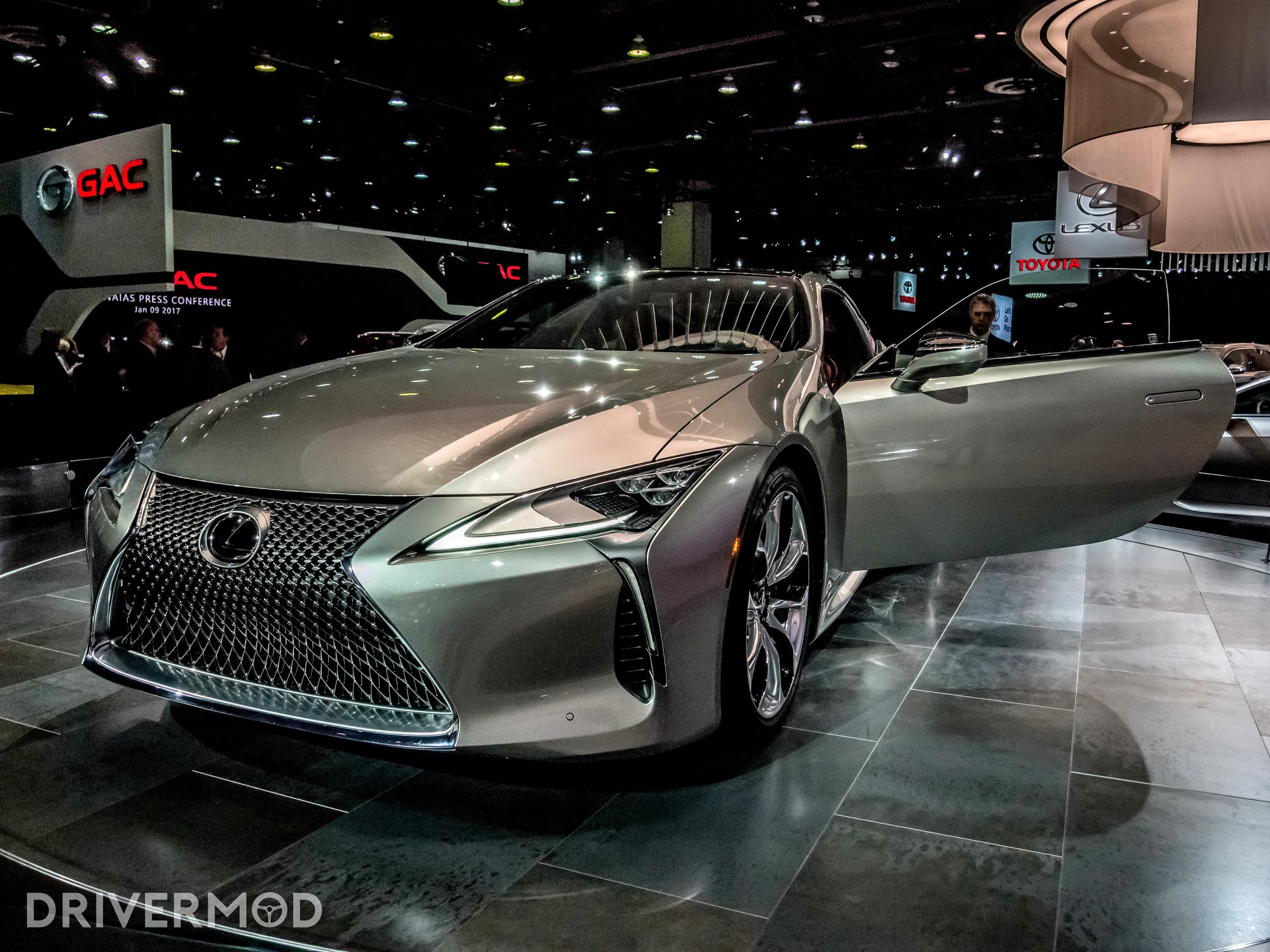 The 2018 Lexus LC500 also made an appearance, and it's stunning.