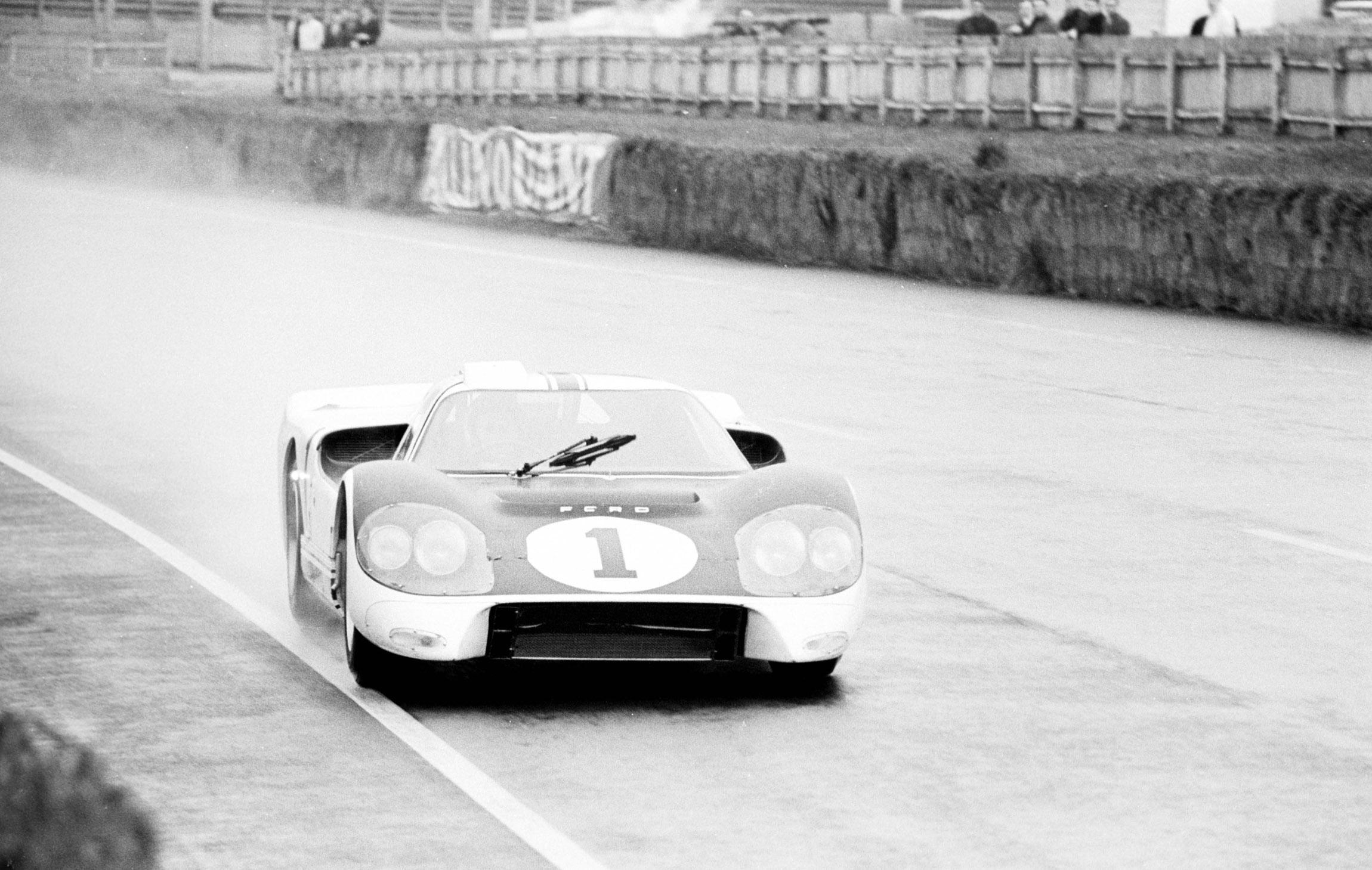 Hours Of Lemans Lemans France  Bruce Mclaren Testing The Ford