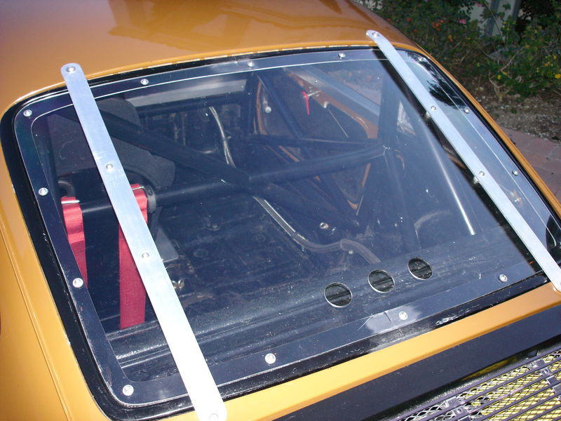"You'll need lexan side and rear windows, with 1"" x 1/8th"" aluminum straps. Source."